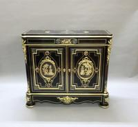 French Louis Philippe Ebonised & Inlaid Cabinet Attributed to Monbro