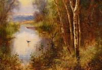 """Oil Painting Pair by Ernest Charles Walbourn """"A Tranquil River Scene"""" (3 of 5)"""