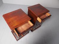 Antique Pair of Victorian Mahogany Bedside Cabinets (6 of 8)