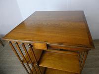 Large 19th Century Oak Revolving Bookcase (3 of 9)