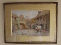 Antique Original 19th Century Watercolour - Groom with Horse - 1894 - poss. J F Pasmore 1820-1881 (2 of 6)