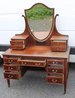 1900's Quality Mahogany Dressing Table with Central Mirror Stand (3 of 5)