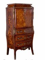 Empire Escritoire Desk - Antique Chest Drawers Inlay 1880 (6 of 6)