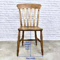 Matched Set of 6 Windsor Slatback Kitchen Chairs (7 of 8)