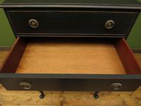 Antique Black Painted Chest of Drawers, Gothic shabby chic (2 of 15)