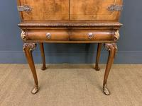 Floral Painted Burr Walnut Cabinet on Stand (5 of 15)