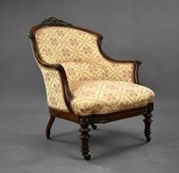 Victorian Rosewood Ladies & Gents Armchairs (3 of 22)