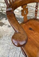 Pair of Antique Broad Arm Windsor Chairs (11 of 28)