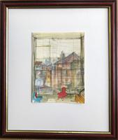 Original Watercolour 'The Red Chair' by Barbara Brassey 1911-2010 Signed c.1955 Framed (2 of 2)
