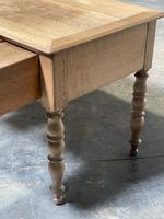 French Bleached Oak Writing Desk (17 of 21)