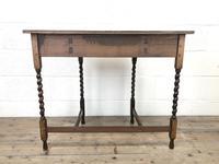 Antique Oak Demi-lune Console Table (11 of 14)