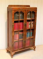 Walnut Chinoiserie Decorated Bookcase (10 of 10)