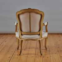 Pair Of French Louis XV Style Painted And Gilt Armchairs (7 of 8)