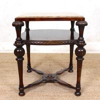 Marble Oak Side Table Continental Queen Anne (2 of 10)