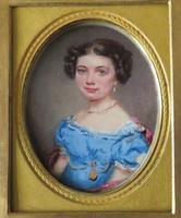 Miniature Portrait Young Girl in Period Frame C.1860 (4 of 5)