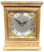 Perfect Vintage Mantel Clock Bracket Clock by Elliott of London Retailed by G H Pressley & Sons (4 of 8)