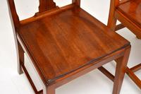 Pair of Art Deco Vintage Solid Mahogany Side Chairs (2 of 11)