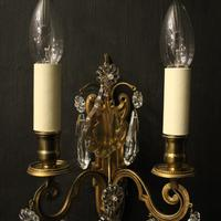 French Pair of Gilded Brass Wall Lights (5 of 10)