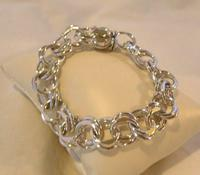 "Vintage Sterling Silver Bracelet 1950s Forstner Usa 7 1/2"" Length 38.2 Grams (7 of 11)"