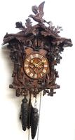 Antique Carved Early Cuckoo Clock Weight Driven Visible Pendulum (10 of 14)