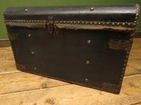 Antique Black Chest Trunk Storage Box, Steamer Trunk (9 of 13)