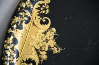 Black & Gilded Papier Mache Tray (8 of 10)