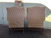 Pair of Antique English Upholstered Wing Armchairs for Recovering (4 of 12)