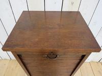 Oak Tambour Front Filing Bedside Cabinet (3 of 7)