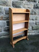 Antique Light Oak Open Bookcase