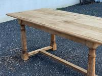 Rustic Bleached Oak Farmhouse Dining Table (11 of 25)