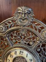 Brass Cased 'Green Man' Mantel Clock (2 of 6)
