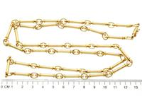 12ct Yellow Gold Chain - Antique c.1920 (7 of 13)
