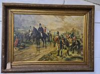 Antique Oil Painting - Wellington At Waterloo, The Dawn Of Day June 18th 1815 (After Robert Alexander Hillingford 1896) (4 of 8)