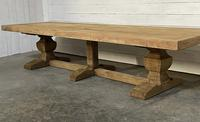 Enormous French Bleached Oak Farmhouse Dining Table (3 of 38)