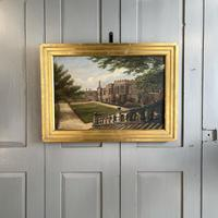 Antique Oil Painting Study of Haddon Hall Derbyshire Signed A E Richmond 1882
