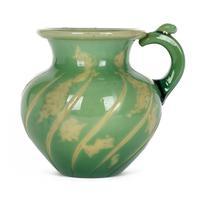 Burgun Schverer & Cie Unusual French Art Glass Handled Vase