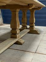 Huge French Bleached Oak Monastery Dining Table (19 of 30)