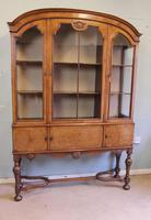 Quality Antique Walnut Display Cabinet (16 of 19)