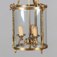 Large French Brass Hanging Lantern (4 of 4)