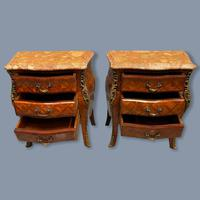 Pair of Italian Parquetry Bedside Commodes (7 of 8)