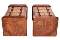 Pair of Victorian Burr Walnut Bedside Cupboards Faux Drawer Fronts (3 of 6)