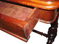 Quality 19th Century Mahogany Desk Stamped Johnstone & Jeanes (3 of 4)