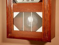 Art Deco Westminster Girod Carillon Oak, Rosewood & Fruitwood Wall Clock French c.1940 (2 of 9)
