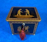 Mid Victorian Sorento Ware Inlaid Single Tea Caddy (2 of 7)