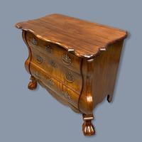 19th Century Dutch Walnut Chest of Drawers (5 of 10)