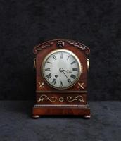 English Late Regency Mahogany Timepiece Mantel Clock (2 of 9)