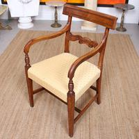 Armchair Fruitwood Desk Library Chair 19th Century Victorian Carved (11 of 11)