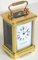 Antique Miniature 8 Day Carriage Clock by Walters & George Regent Street Rare (6 of 14)
