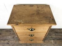 Antique Pine Chest of Drawers on a Plinth Base (8 of 13)