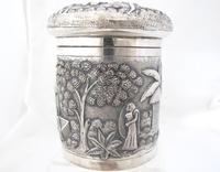 Outstanding quality Bhowanipore antique silver lidded pot Calcutta c 1890 (8 of 11)